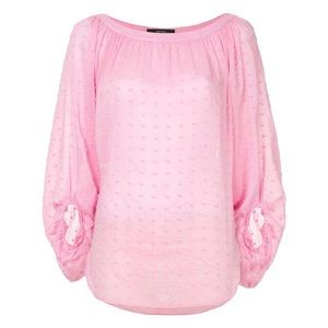 Smythe Balloon Sleeve Blouse - Pink